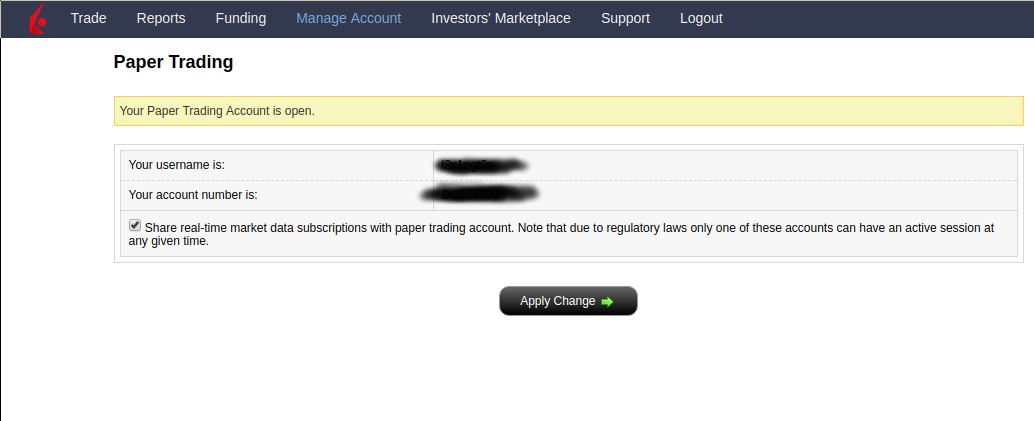 How to get Market Data in Interactive Paper Trading Account