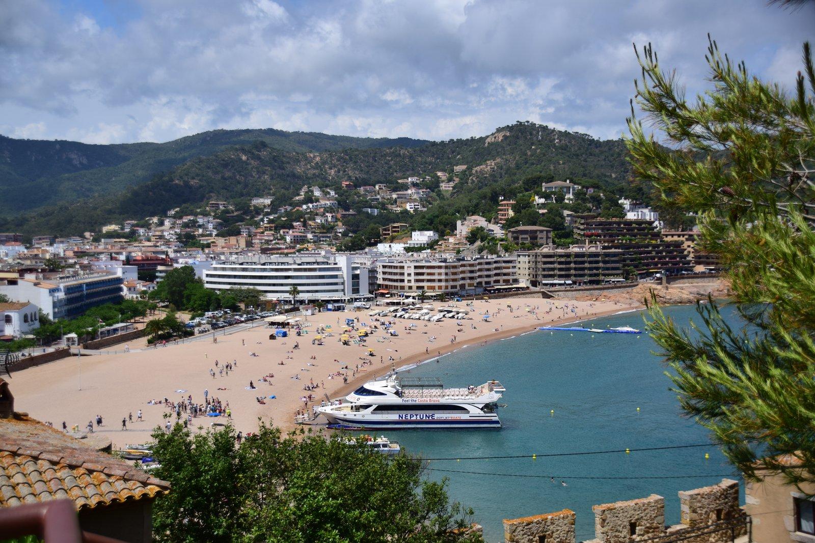 Strand in Tossa de Mar
