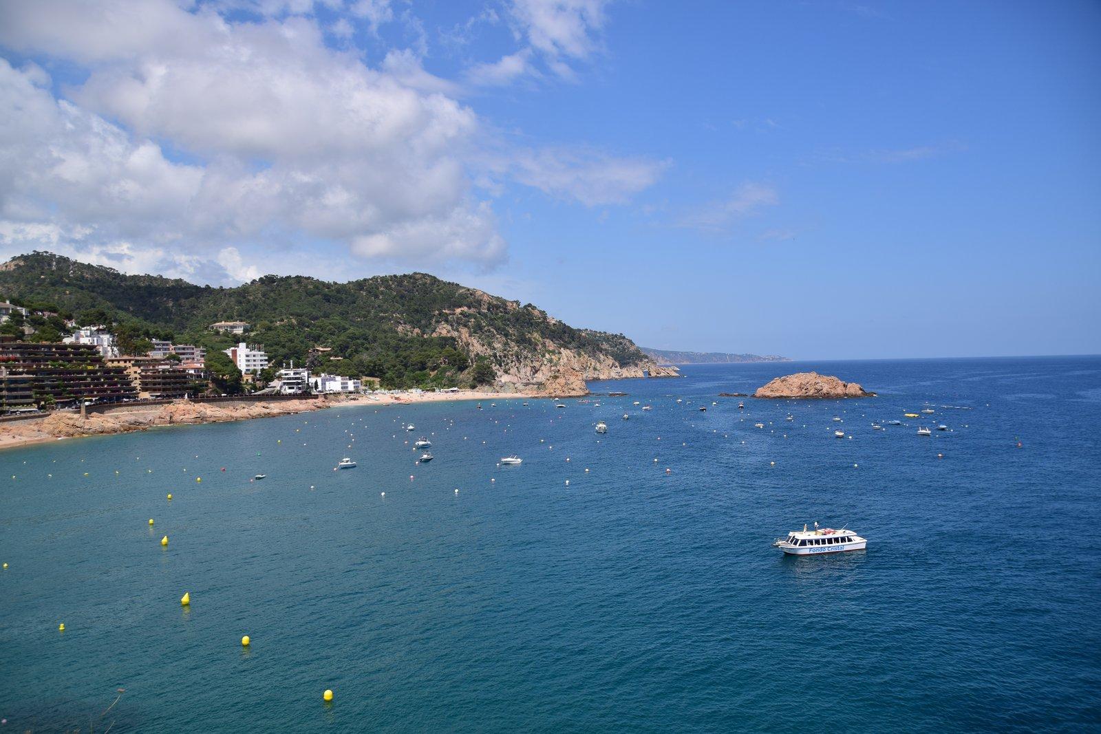 Blick auf das Meer in Tossa del Mar