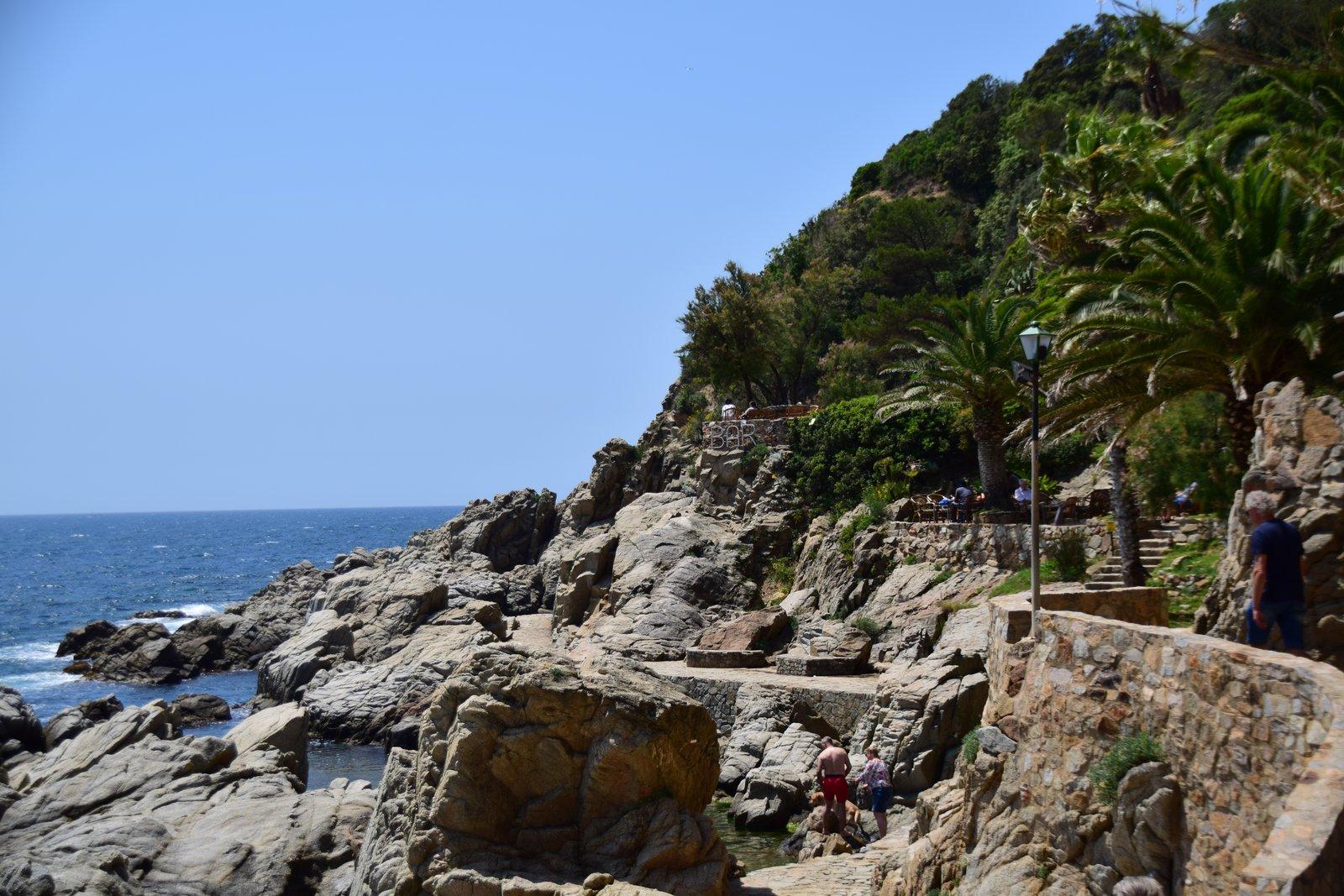 Weg zu Cala Banys in lloret de Mar Costa Brava