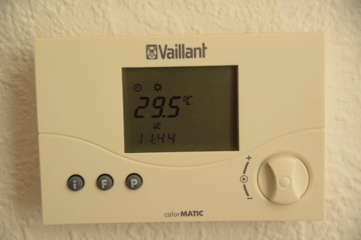 29,5° Grad Celsius in der Wohnung 2