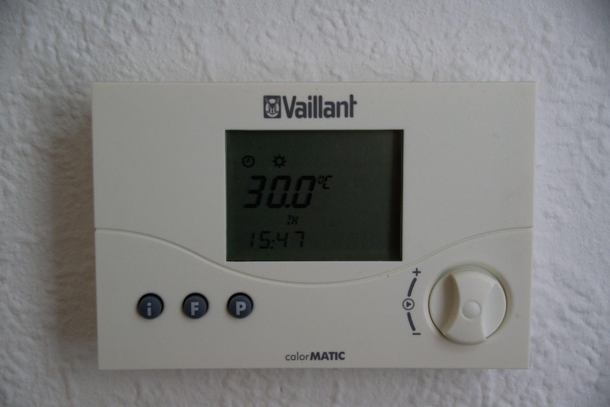 29,5° Grad Celsius in der Wohnung 3