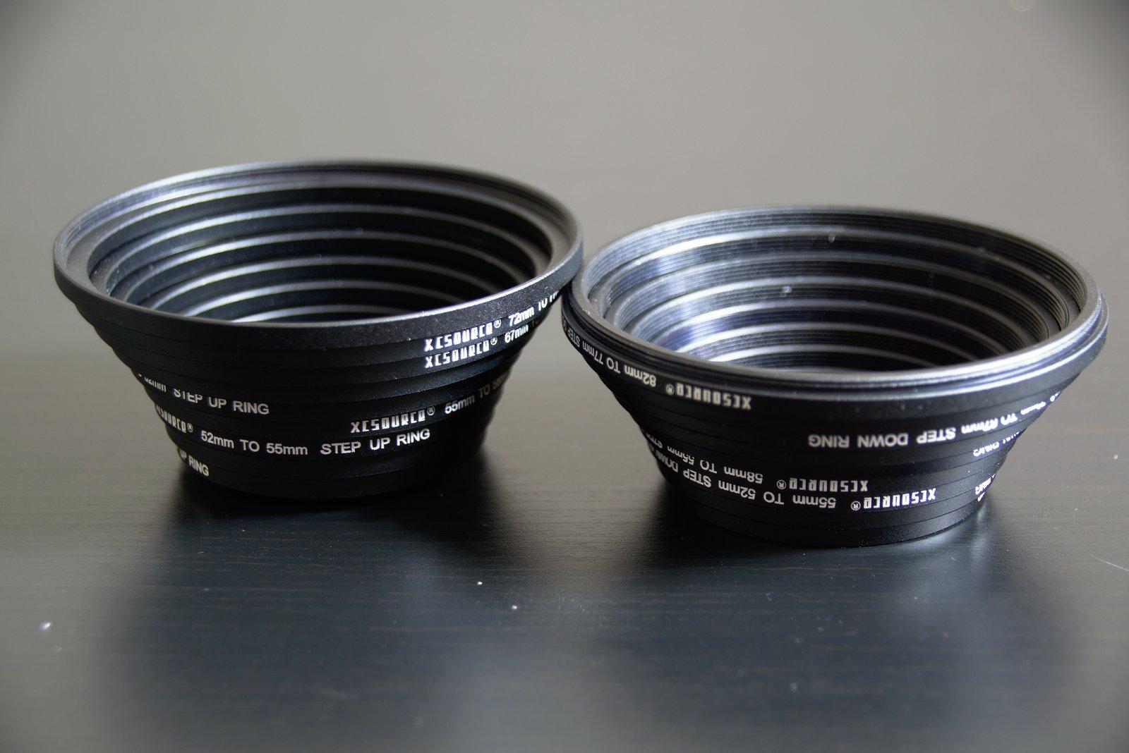 Erfahrungsbericht 18 Stück Filter-Ring Objektiv Adapter-Set 37 49 52 55 58 62 67 72 77 82mm Step Up Step Down 4