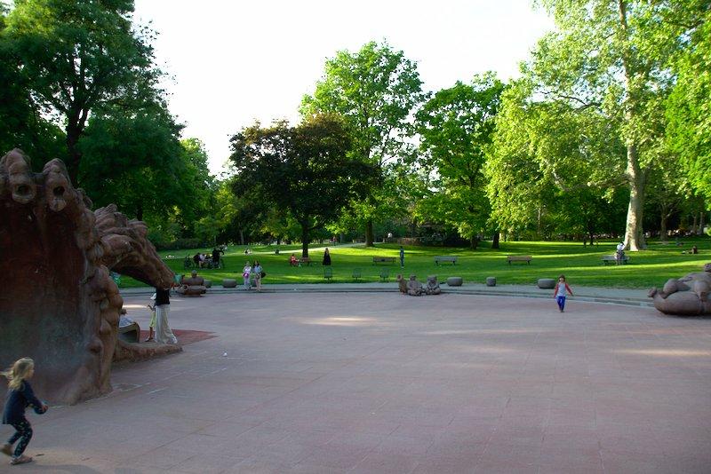 Playground Wasserspiele im Günthersburgpark