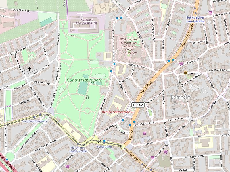 Map Günthersburgpark