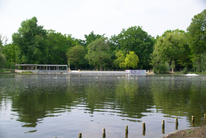 Ostparkweiher with new viewing platform