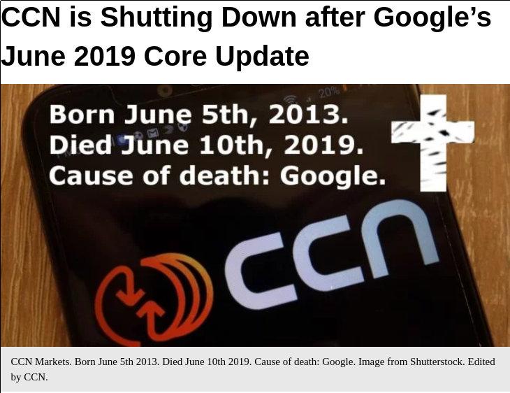 CCN.com macht die Türen dicht
