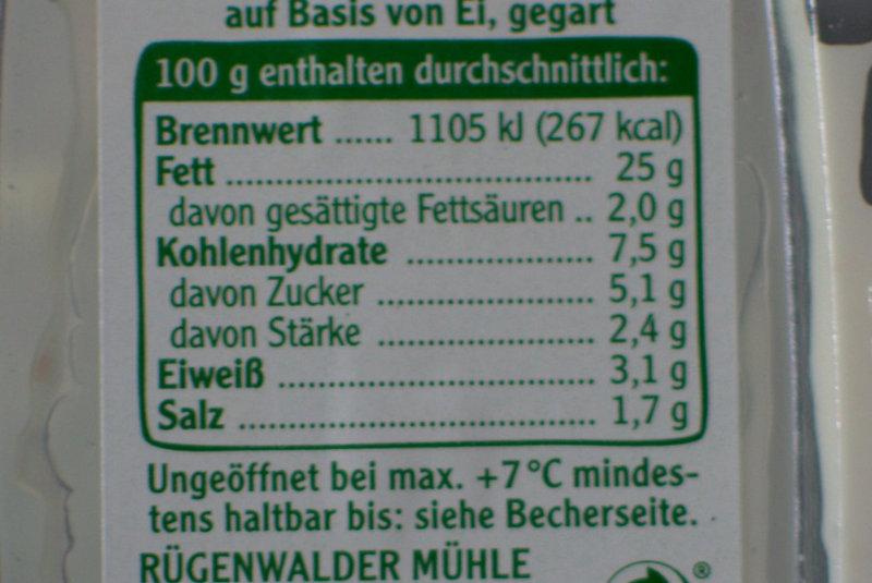 Nährwerte Schinken Spicker Salat Rügenwalder Mühle