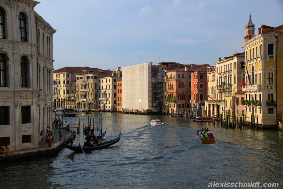 Canal Grande Venice Italy at Sunset