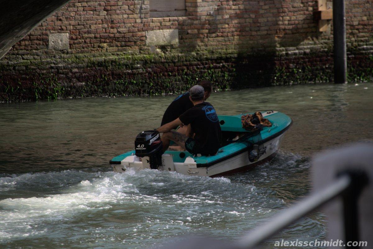 Fishermen in Venice in their little Boat