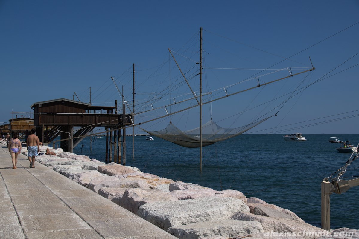 Fishing Nets at the Coast in Chioggia Venice, Italy