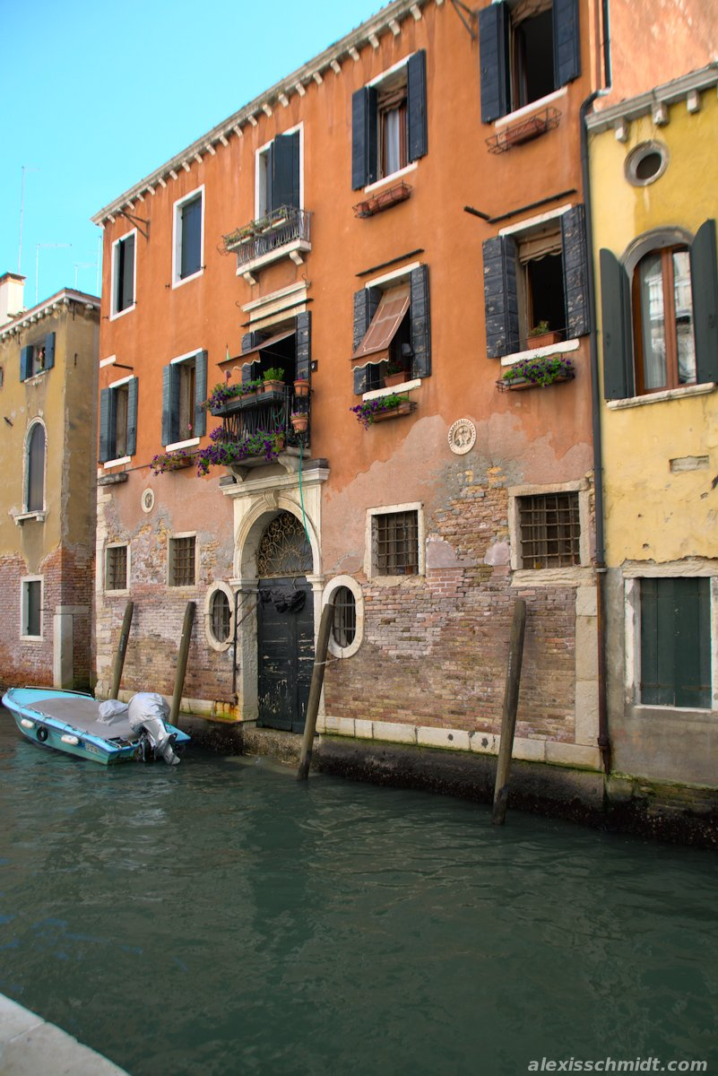 House Entrance from Canal in Venice, Italy