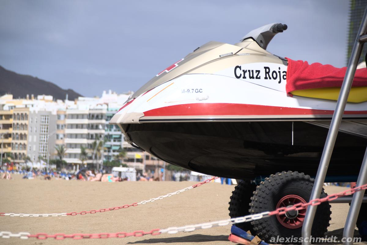 Jet Ski from the Lifeguards in Las Canteras, Gran Canaria.