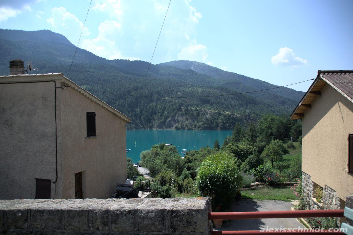 Lac de Castillon and Houses in Saint-Julien-du-Verdon
