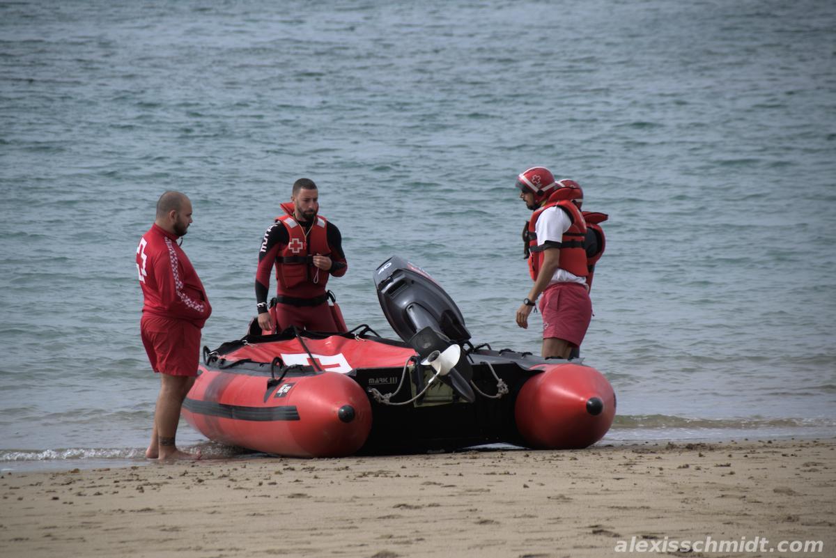 Lifeguards in Playa de Las Canteras, Gran Canaria