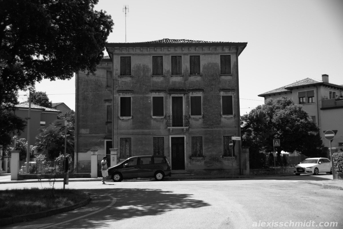 Old House in Marghera (Venice), Italy (B/W)