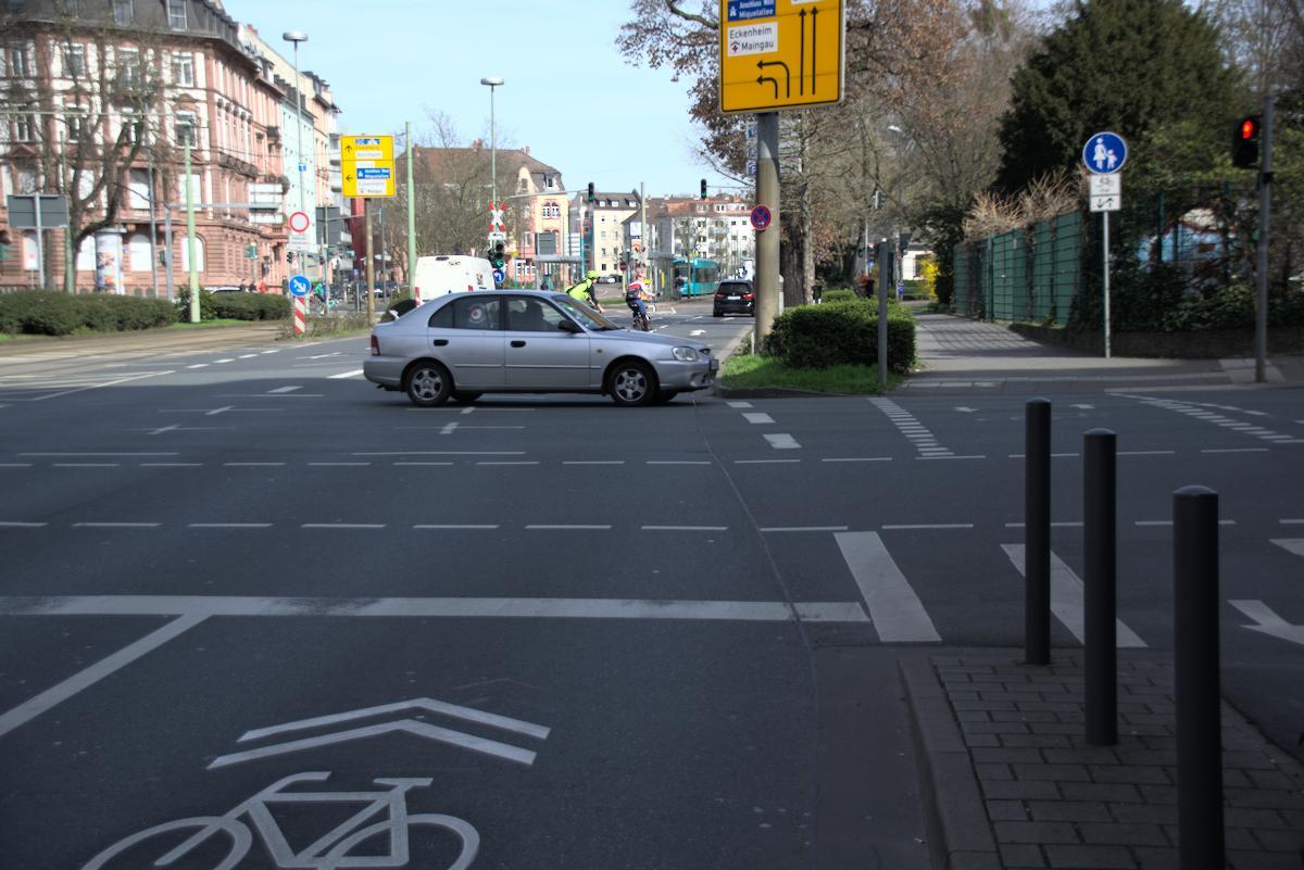 Radspur Konrad-Adenauer-Straße/Ecke Seilerstraße