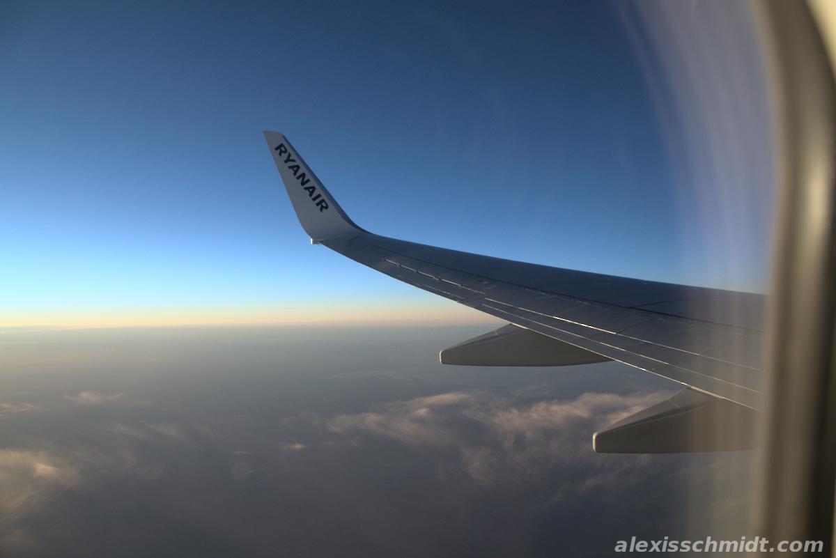 Ryanair Wing Blue Sky