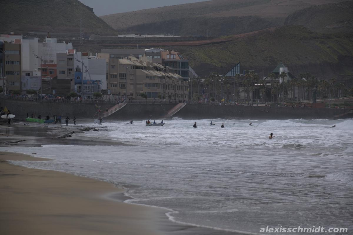 Surfers in Las Palmas