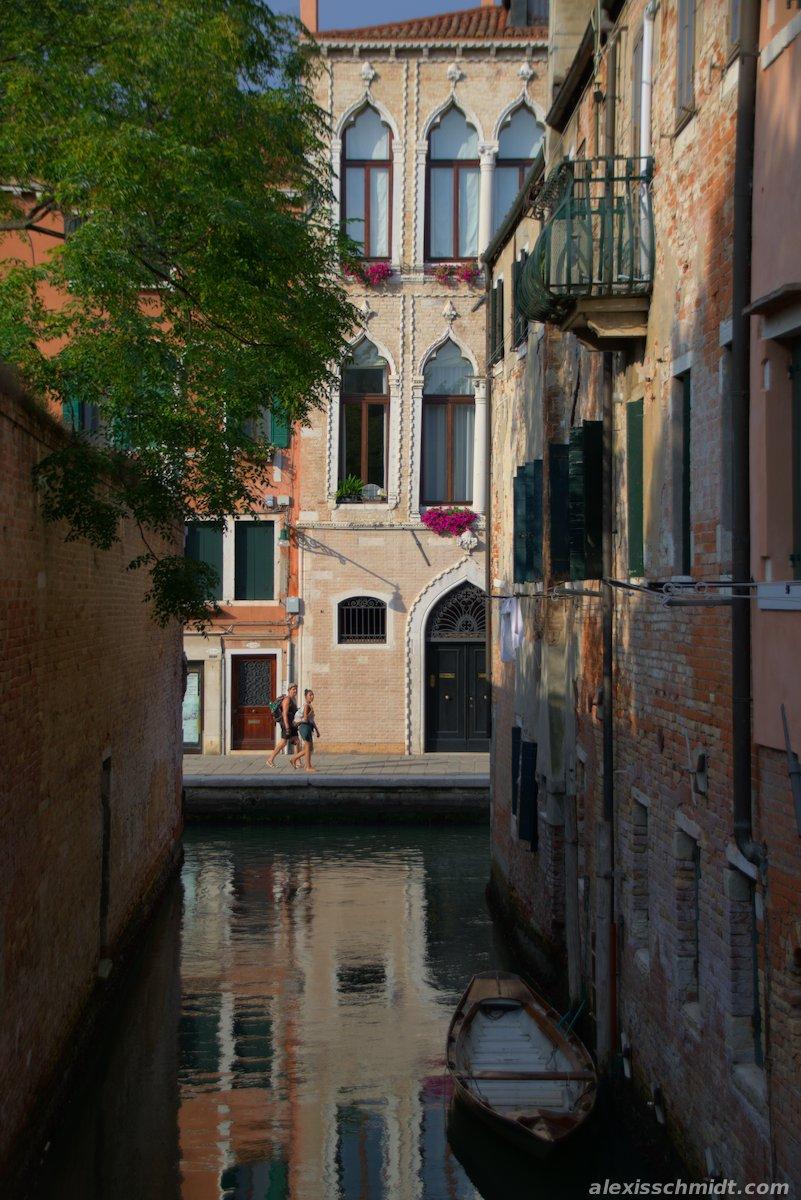 Couple walking in wonderful Venice, Italy