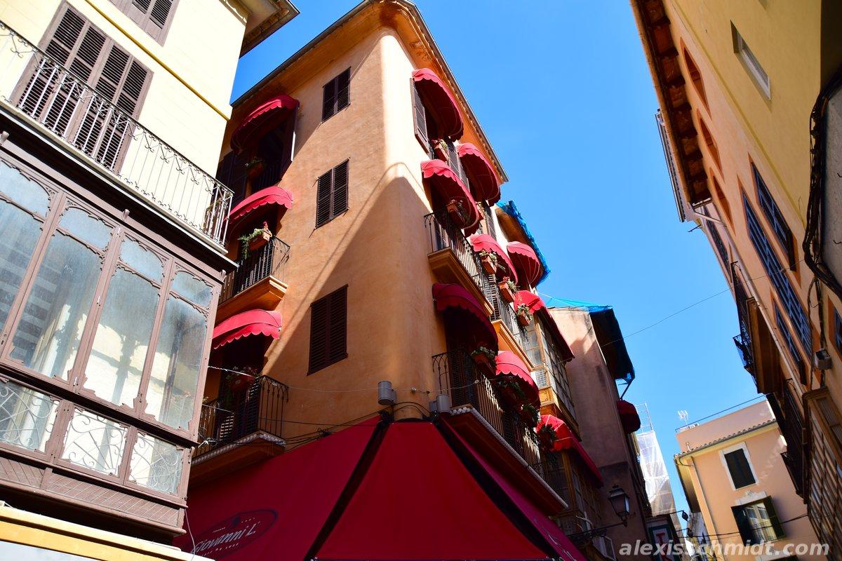 Balconies in Palma de Mallorca