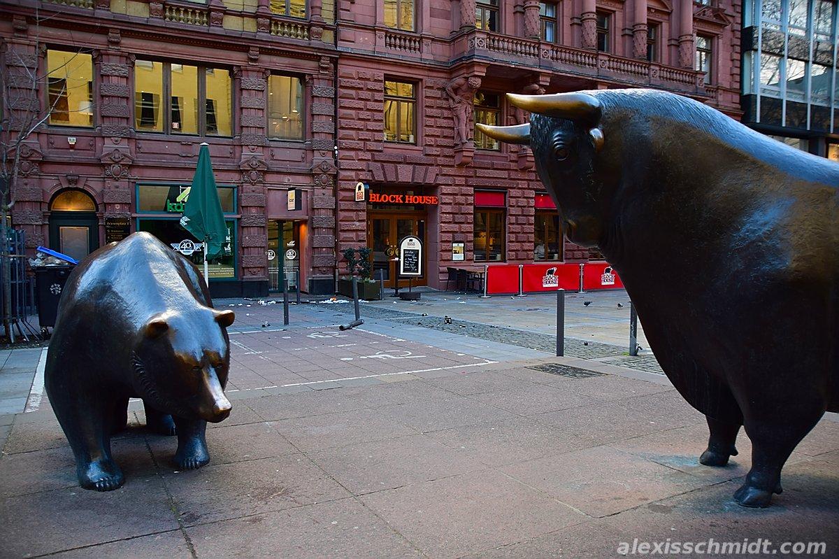 Bull vs Bear at the Frankfurt Stock Exchange
