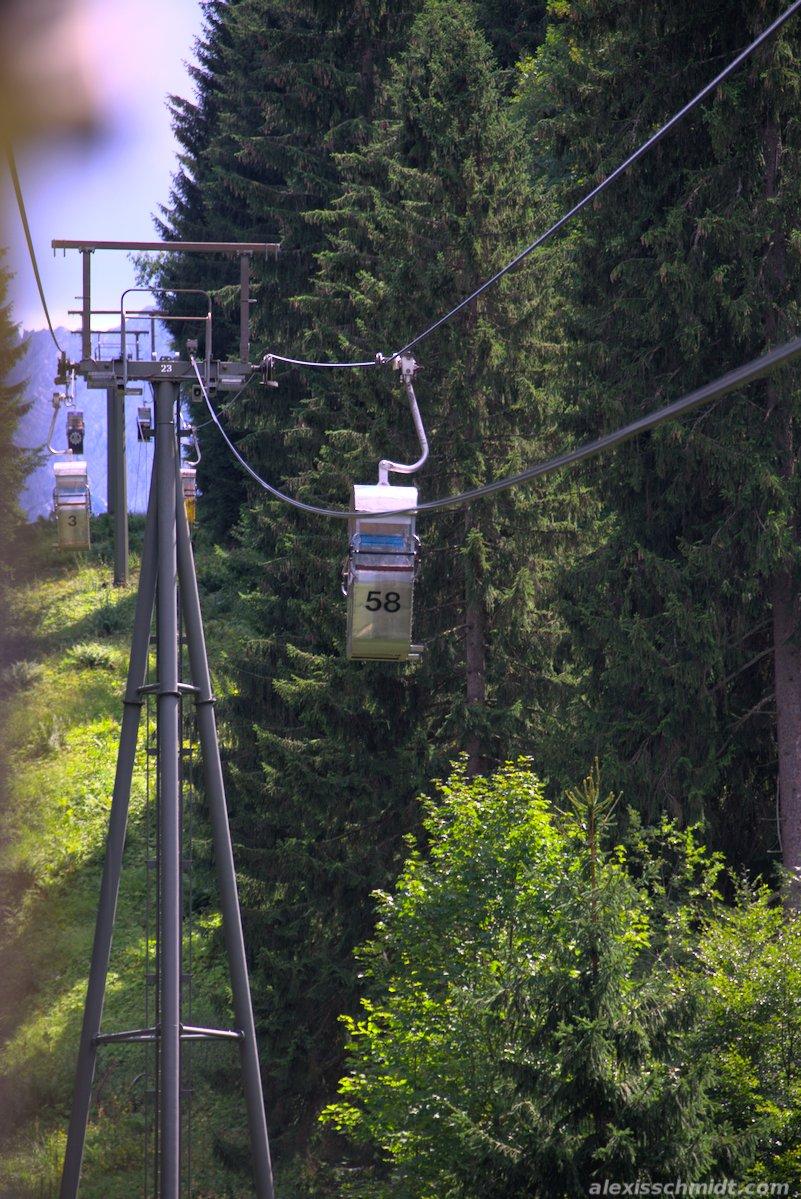 Cable Car Graseckbahn in Garmisch-Partenkirchen, Germany