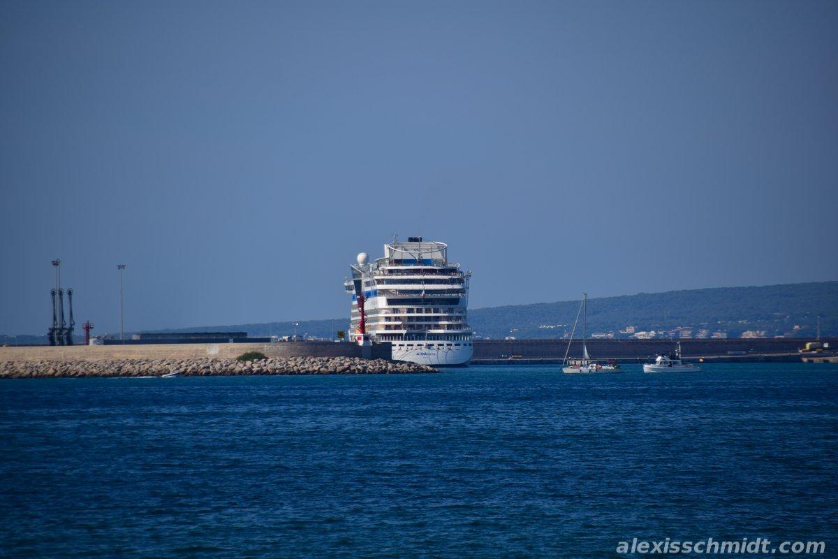 Cruise Ship in Palma de Mallorca, Spain