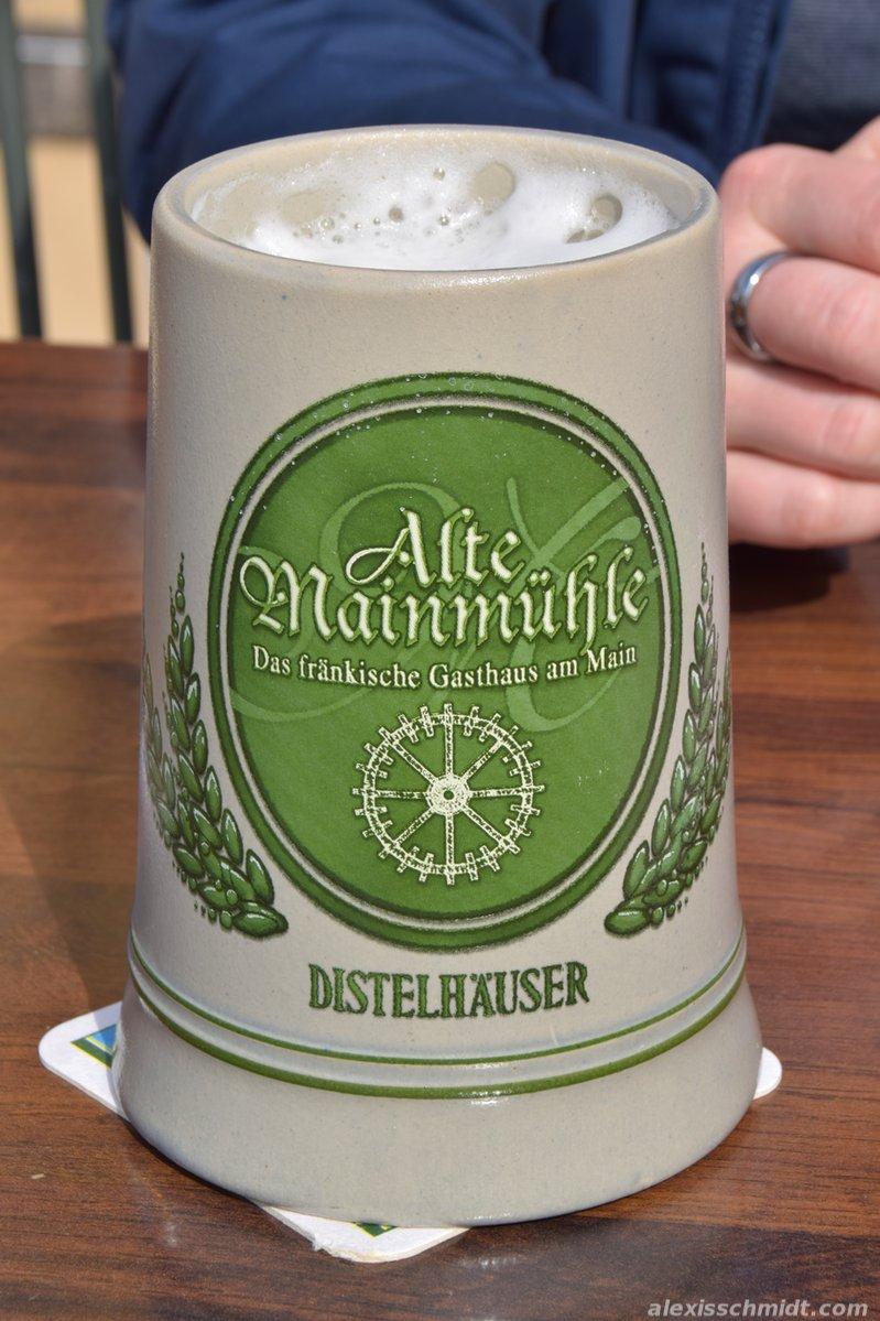 Distelhäuser Beer in a Beer Stein.