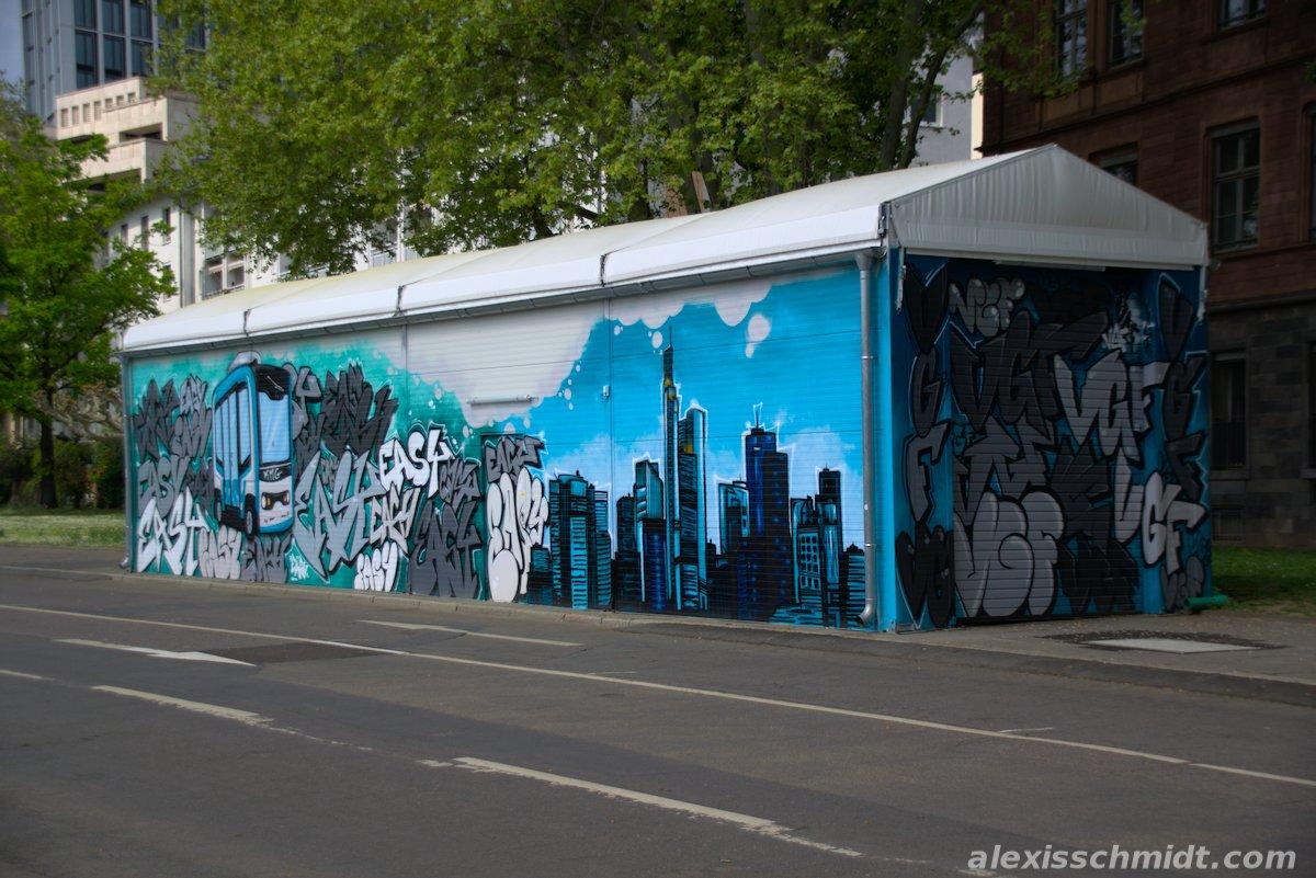 Graffiti at Untermainkai, Frankfurt, Germany