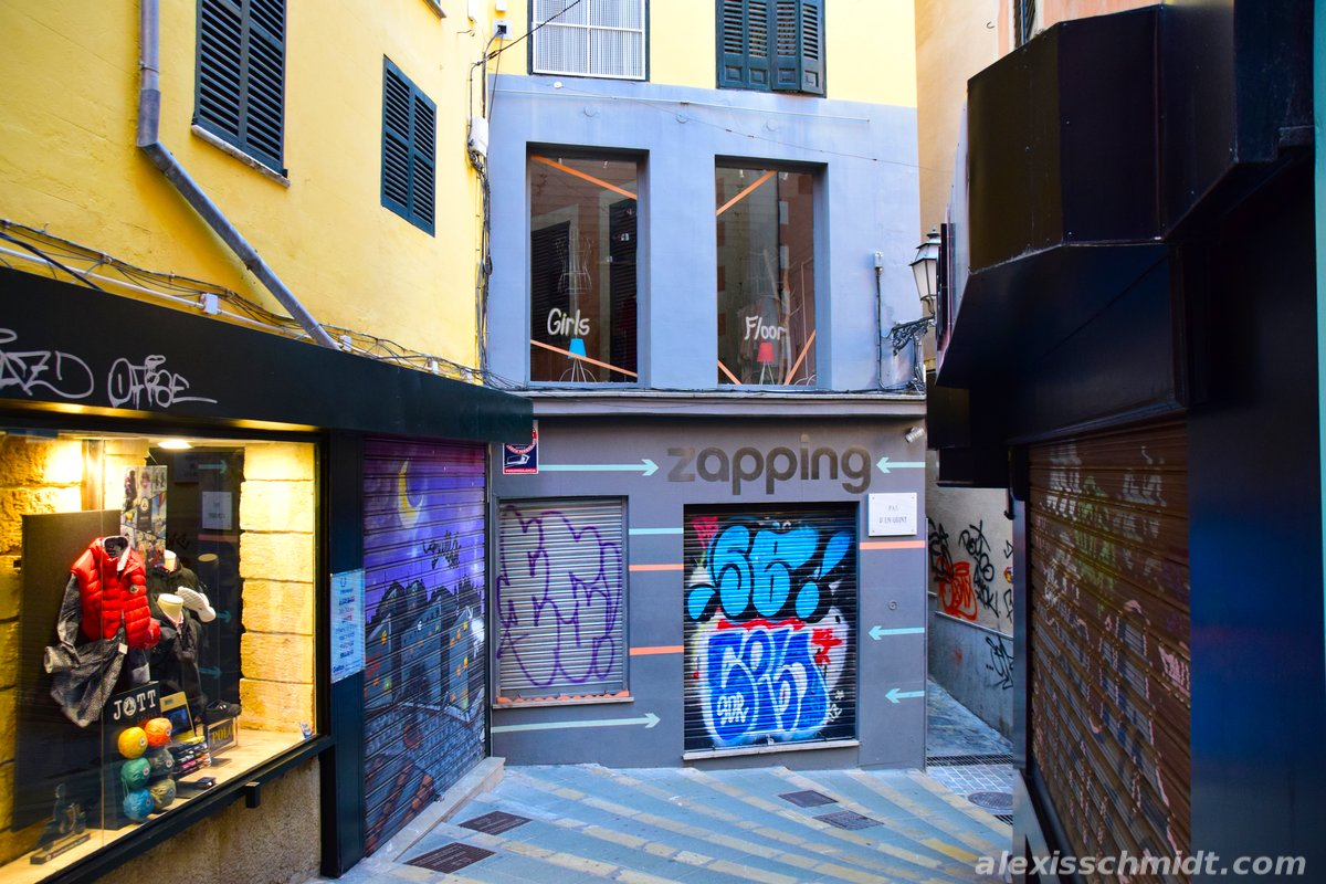 Graffiti in a Shopping Street in Palma de Mallorca