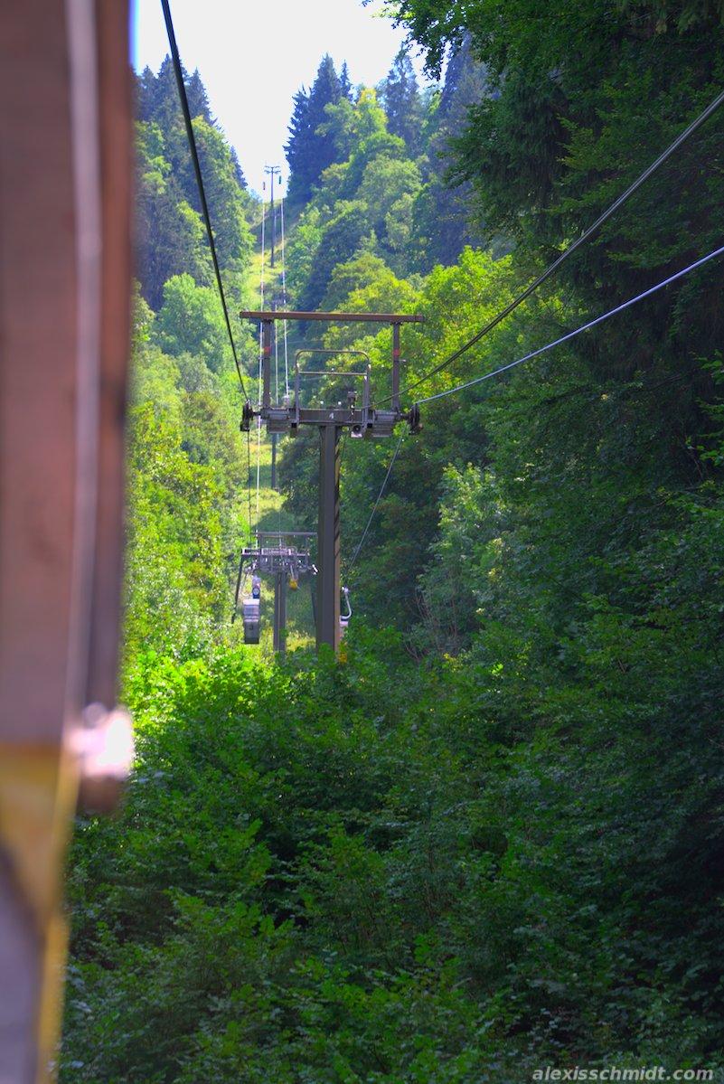 Graseckbahn Cable Car in Garmisch-Partenkirchen, Germany