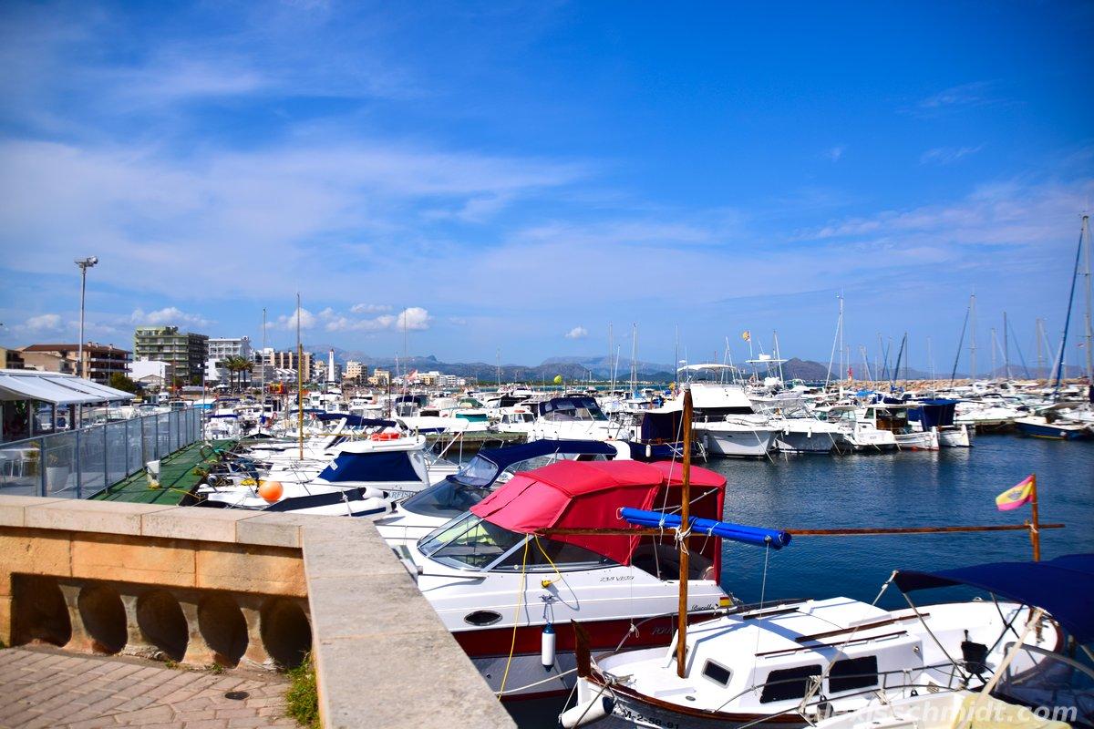 Marina in Can Picafort, Mallorca, Spain