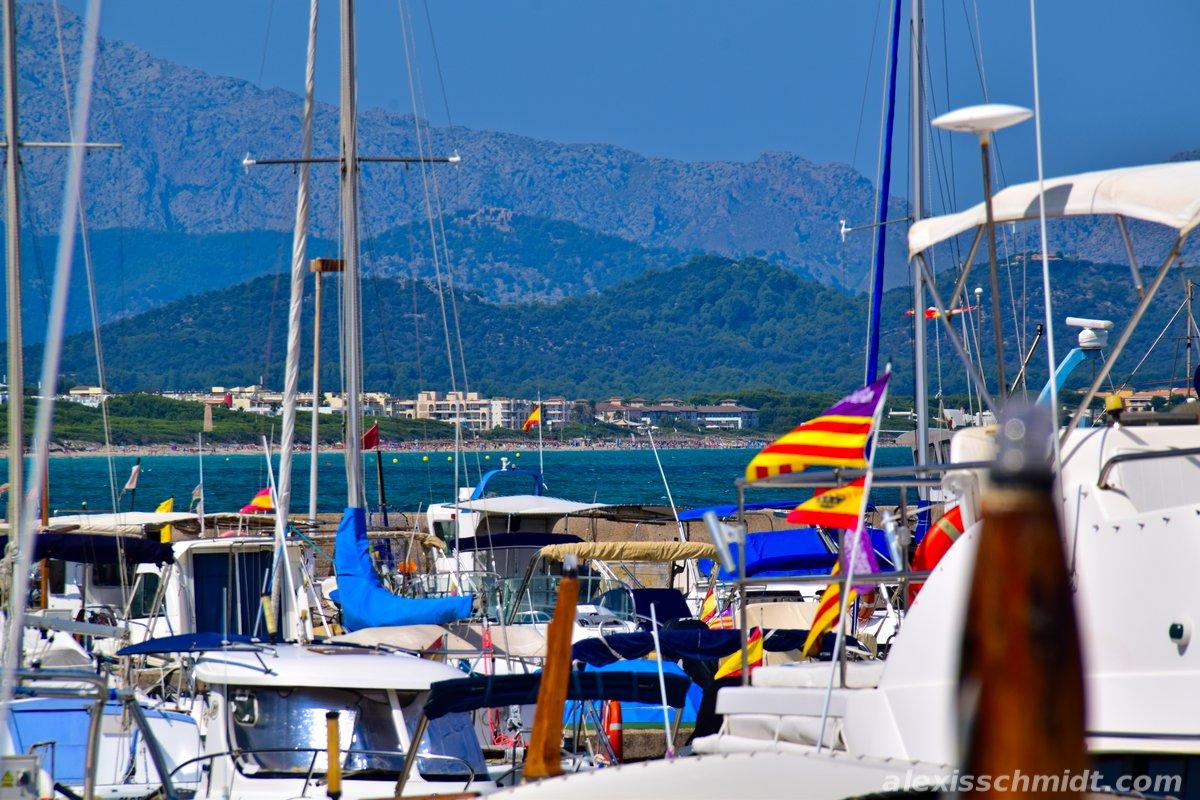 Marina in Can Picafort and Playa de Muro, Mallorca, Spain