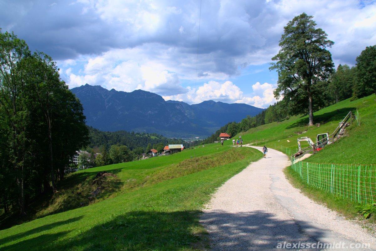 Green Meadow in the Alps near Garmisch-Partenkirchen, Germany