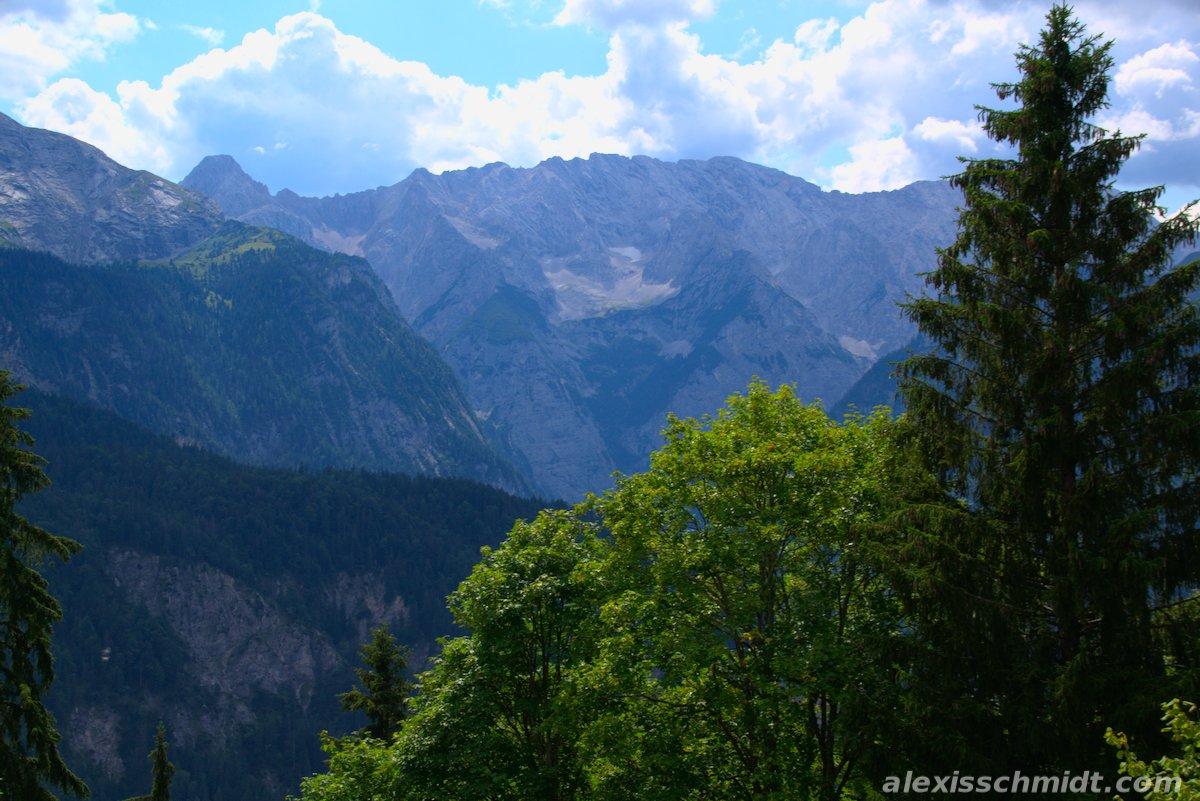 Mountain View from Berggasthof Eckbauer Garmisch-Partenkirchen, Germany