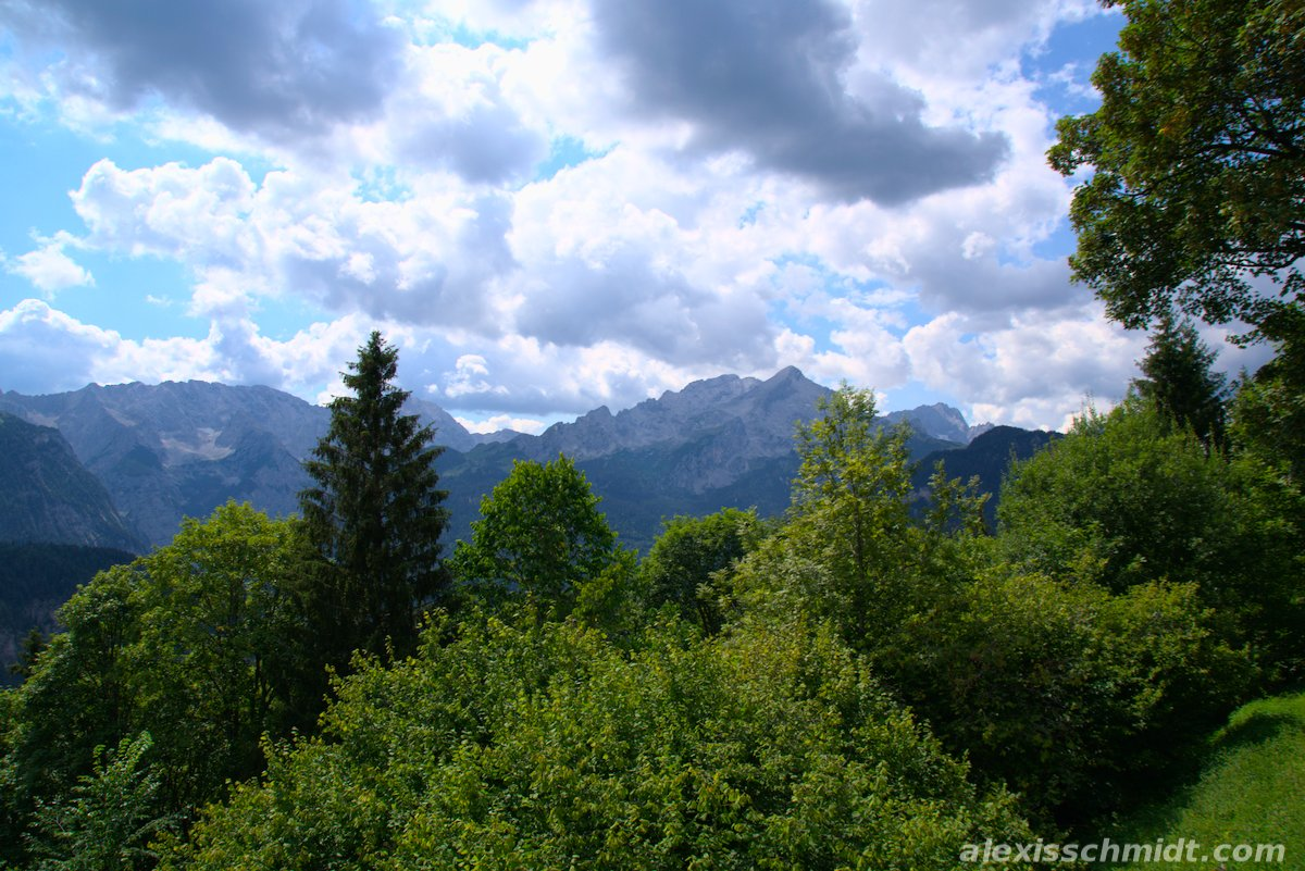 Mountains in Garmisch-Partenkirchen, Germany