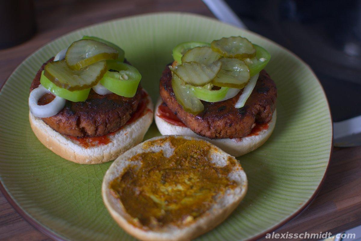 Vegan Pea Burger from Vossko