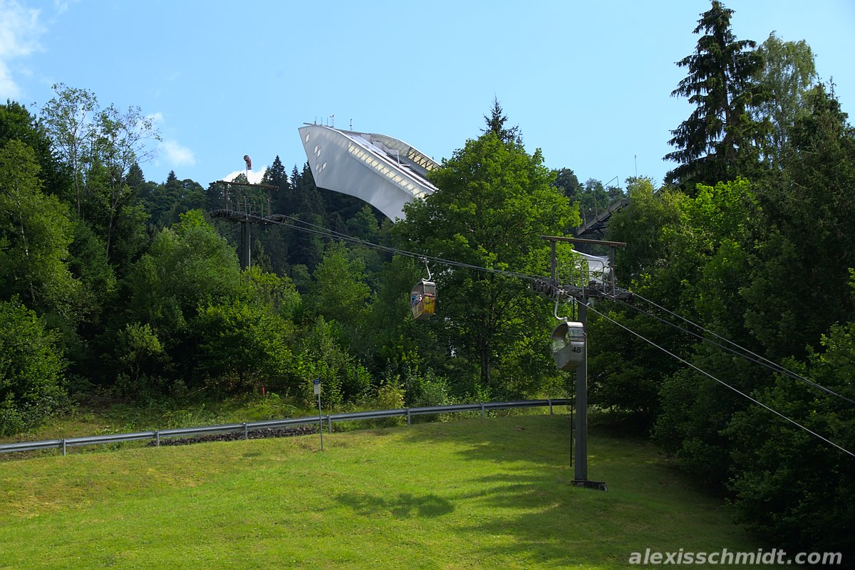 Ski Jump and Forest in Garmisch-Partenkirchen, Germany