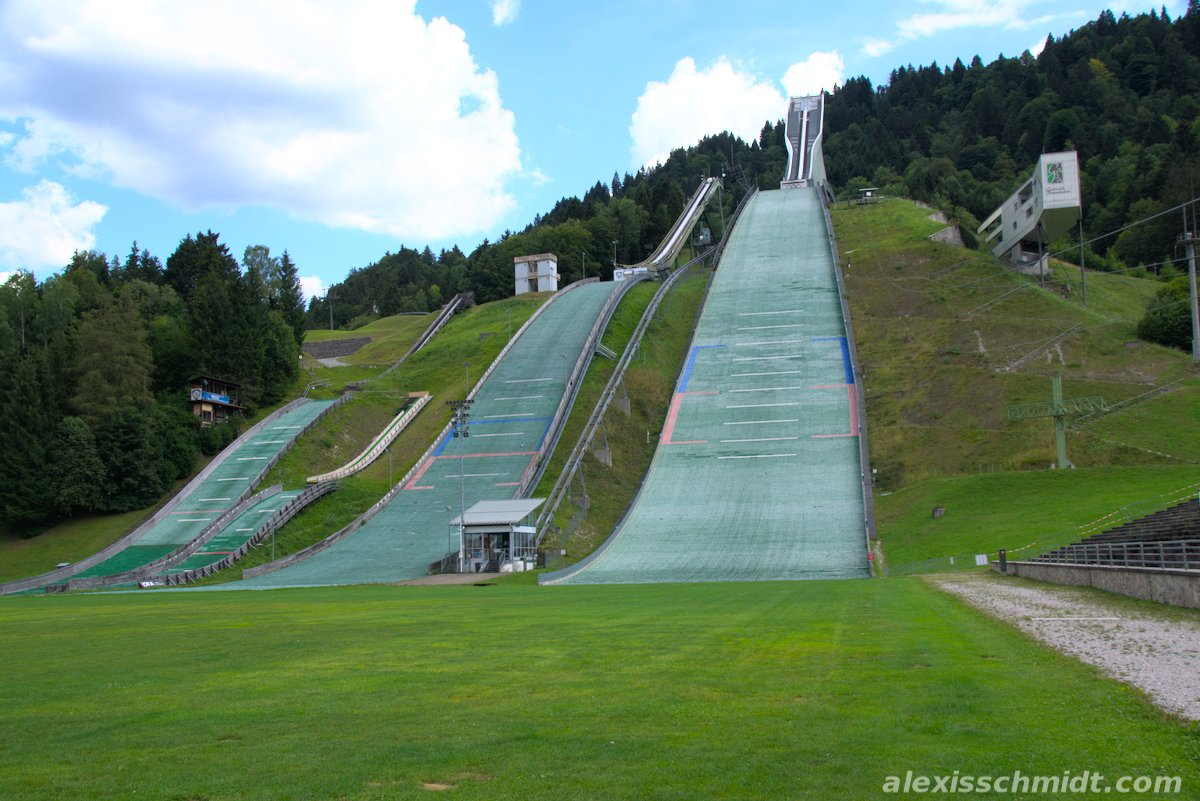 Ski Jump in Garmisch-Partenkirchen, germany