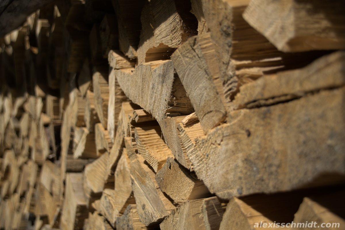 Stacked Firewood in Garmisch-Partenkirchen, Germany