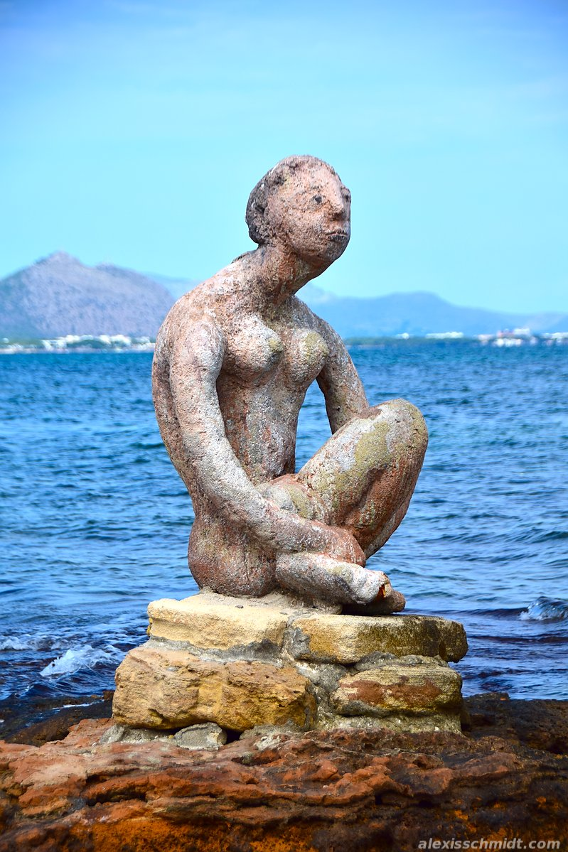 Statue in Can Picafort, Mallorca, Spain