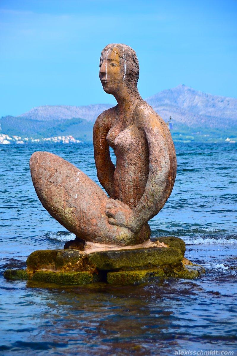 Statue in Can Picafort, Mallorca, Spain