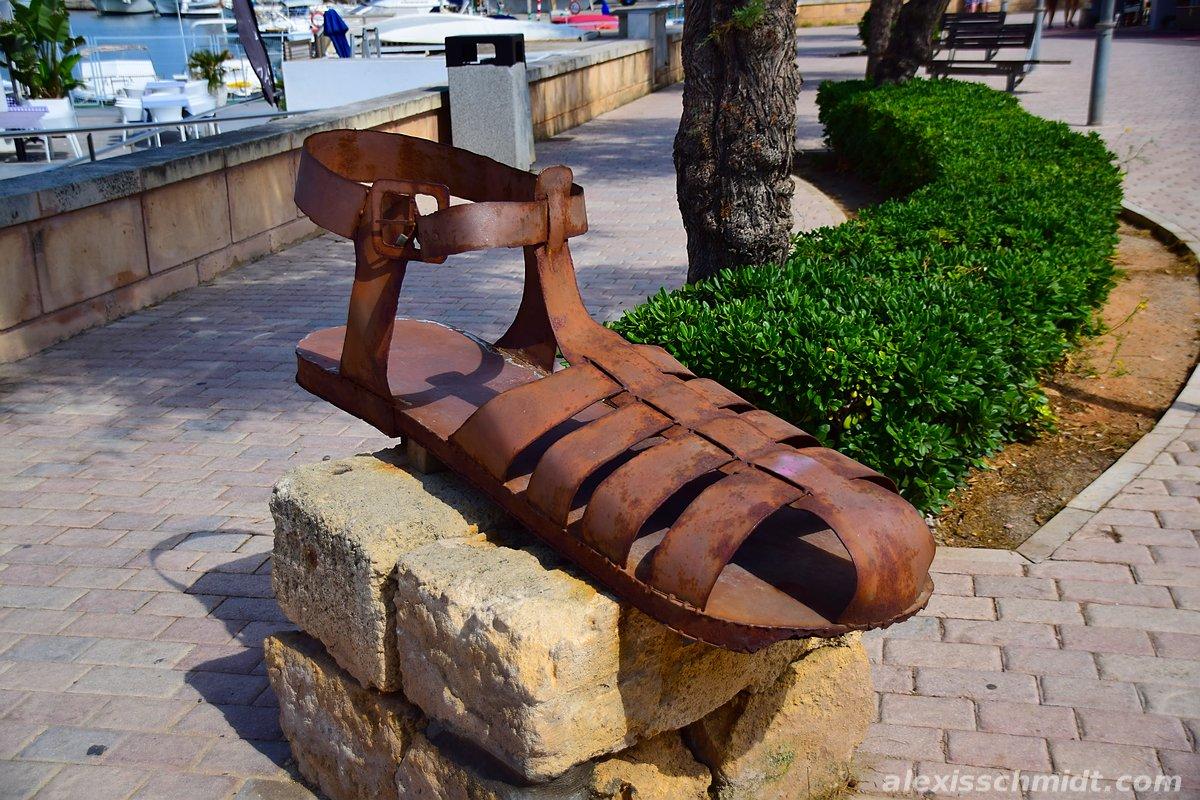 Sandal Sculpture in Can Picafort, Mallorca, Spain