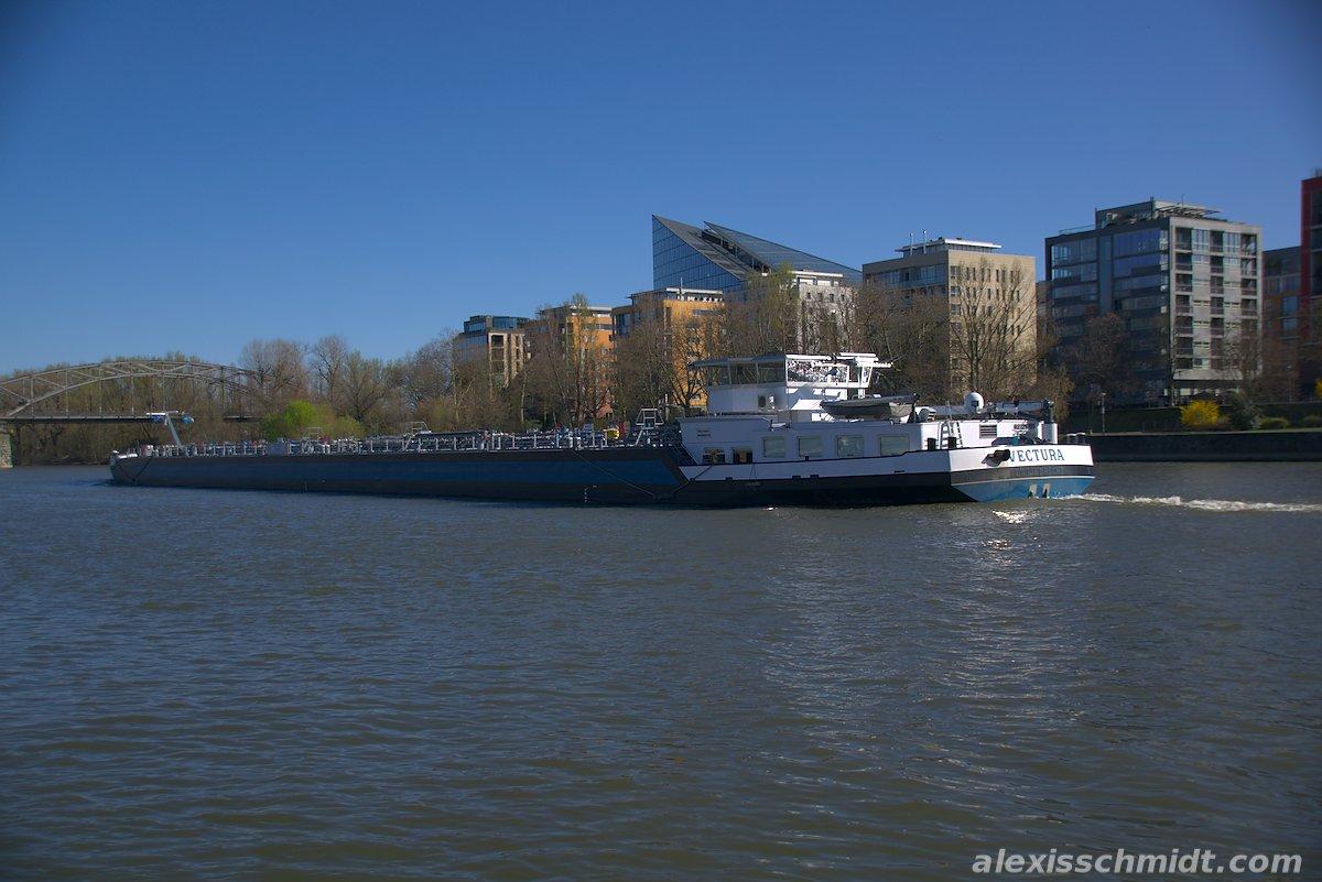 Vectura River Ship in Frankfurt, Germany
