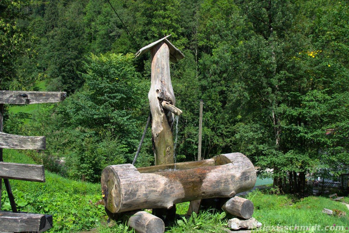 Wooden Drinking Through in Garmisch-Partenkirchen, Germany