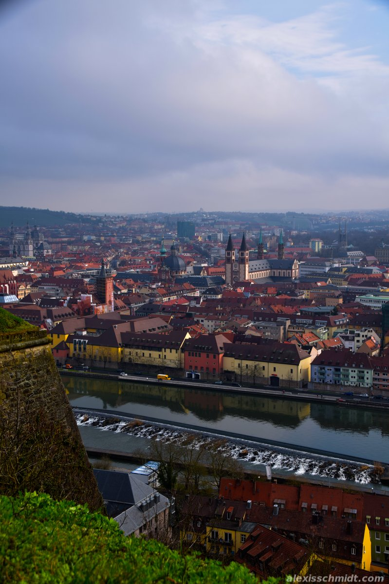 Würzburg and Main River, Germany