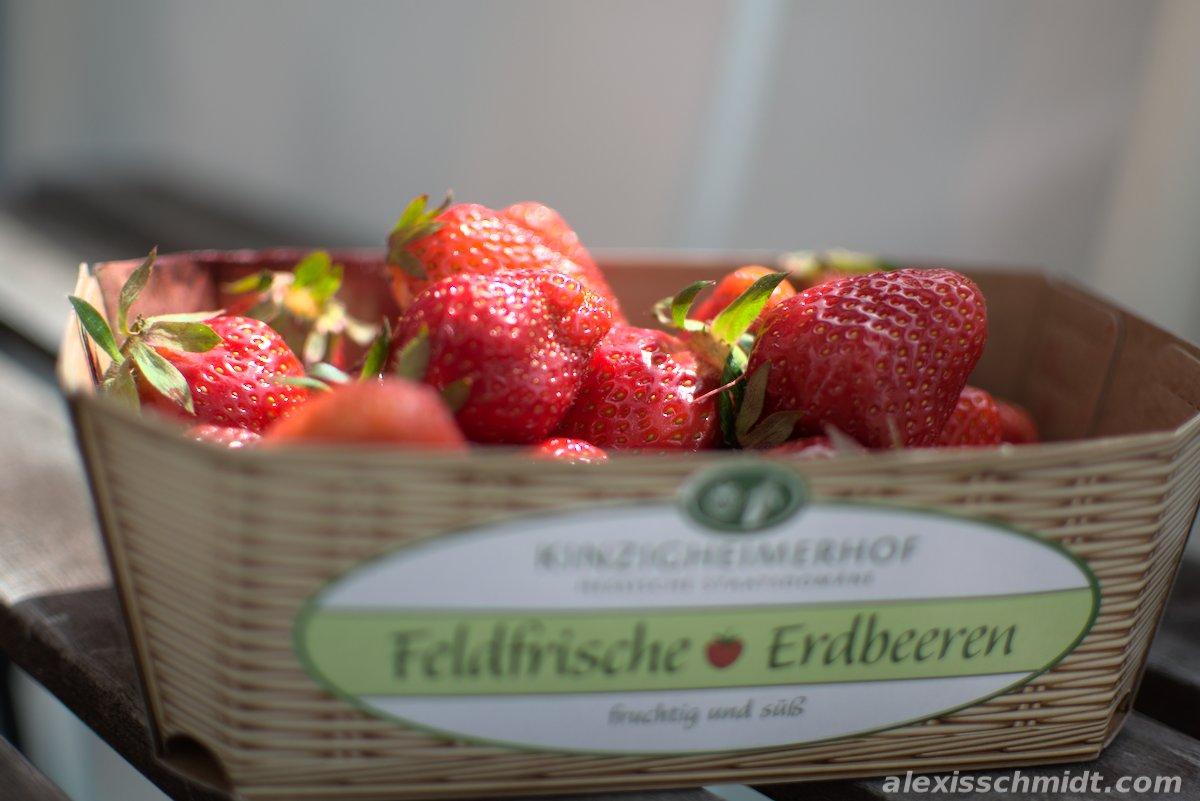 Frische Erdbeeren vom Kinzigheimerhof.