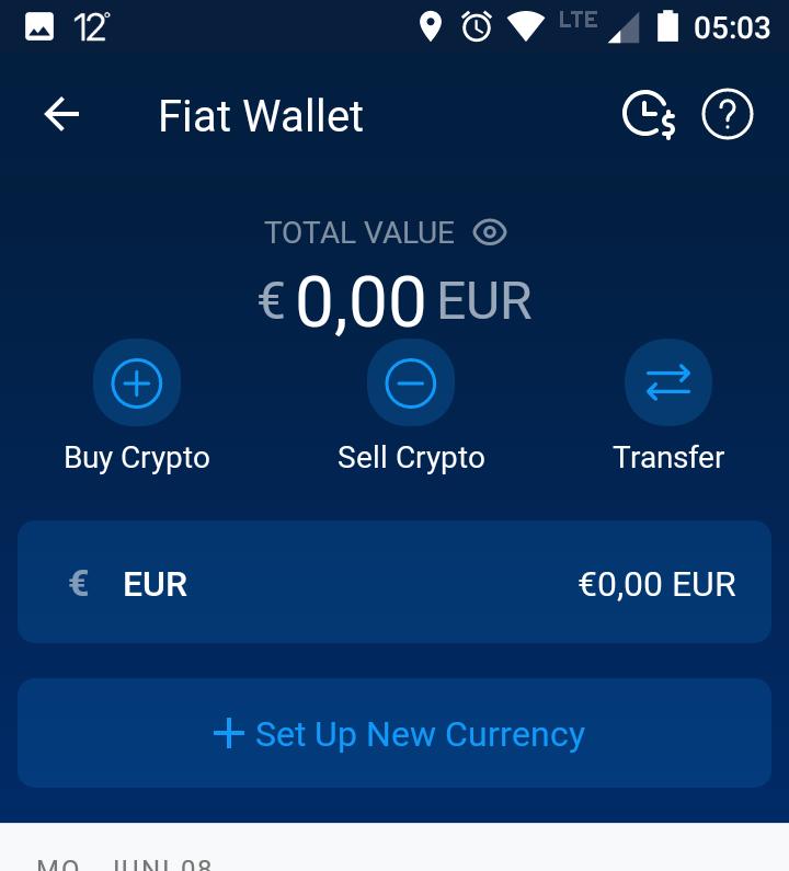 Crypto.com Fiat Wallets