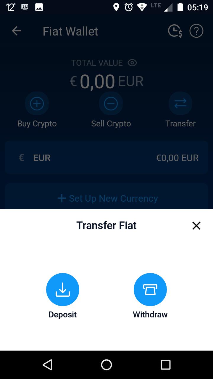 Geld auf Crypto.com einzahlen